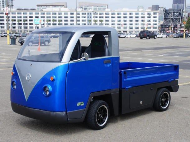 Cenntro Motors Kombi City electric utility vehicle. [Photo by CNET]