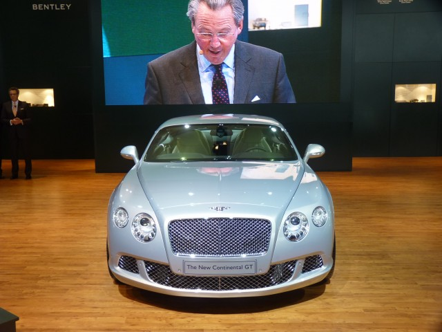 CEO Dr. Franz-Josef Paefgen and 2011 Bentley Continental GT