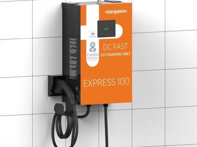 Chargepoint Launches Small Dc Quick Charging Station For Electric Cars