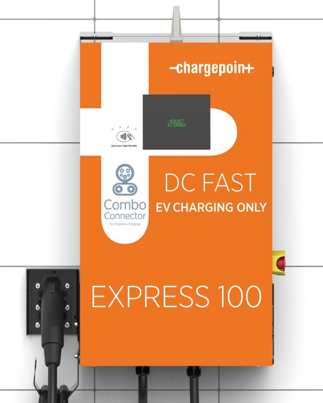ChargePoint Express 100 DC fast-charging station