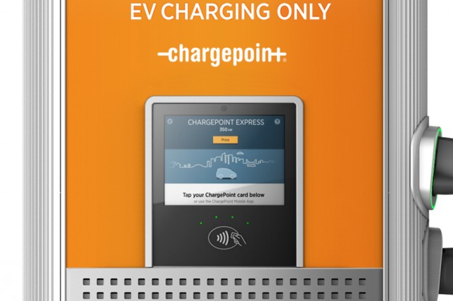 ChargePoint Express Plus modular DC fast-charging system for electric cars, launched at 2017 CES