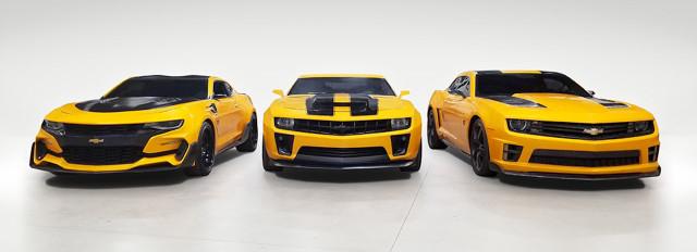 Bumblebee Chevrolet Camaros from Transformers film series
