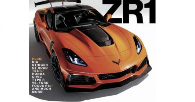 2019 Chevrolet Corvette ZR1 leaked on magazine cover