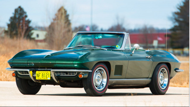 Bart Starr's Super Bowl I MVP 1967 Chevrolet Corvette Sting Ray convertible