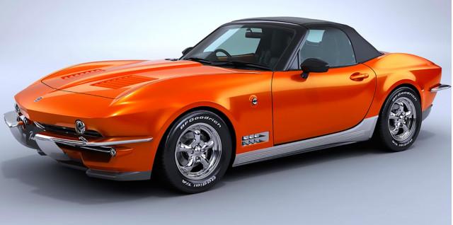 Mitsuoka Mazda Miata-based Chevy Corvette