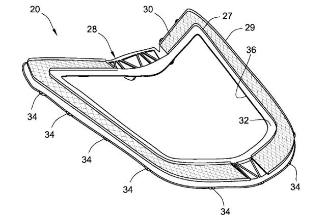 2020 Chevrolet Corvette engine hatch cover patent image