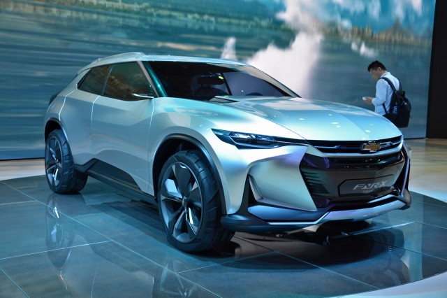 Chevrolet FNR-X Concept for plug-in hybrid crossover, 2017 Shanghai auto show   [photo: Ronan Glon]