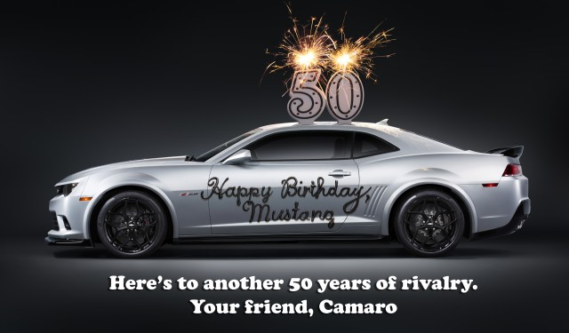 Chevrolet salutes 50 years of the Ford Mustang