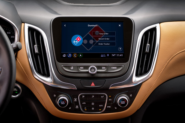 Chevy adds Domino's Pizza ordering to its in-car touchscreen
