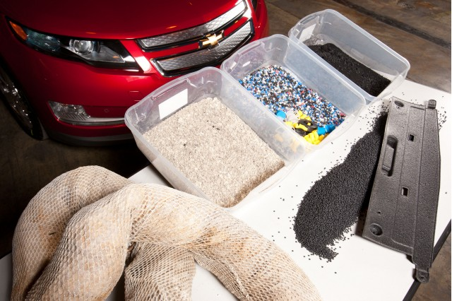 Chevy Volt components made from recycled BP oil spill booms