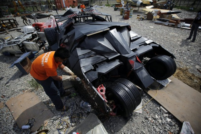 Chinese Tumbler Batmobile replica. Photo via Reuters.