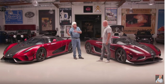 Christian von Koenigsegg with the Koenigsegg Agera RS and Regera at Jay Leno's Garage