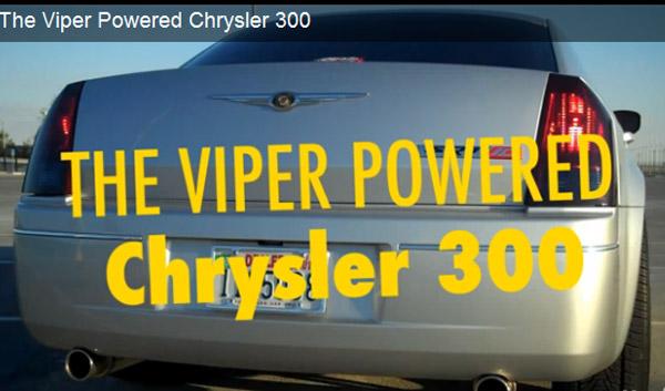 Chrysler 300 SRT10 teaser