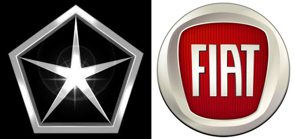 Chrysler and Fiat logos