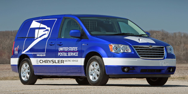 Chrysler hopes to install charging stations at post offices across the country for its new fleet of electric mail vans