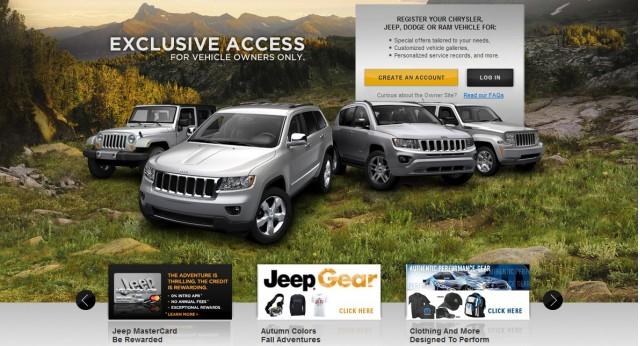 Chrysler's online Owner's Center for Jeep vehicles