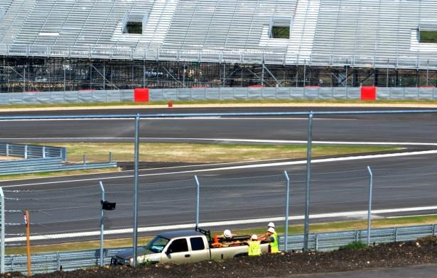 Circuit of the Americas construction progress, 10/1/2012. Images via Friends of F1 Austin Texas.