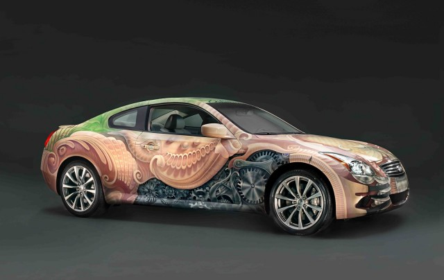 Cirque du Soleil-inspired Infiniti G37, painted by Heidi Taillefer