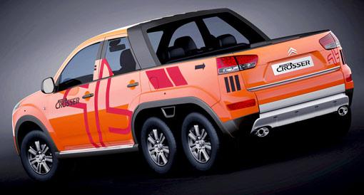 Citroën's six wheel Cruise Crosser Concept