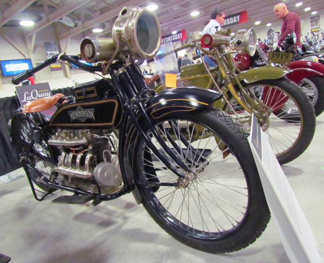 Classic Henderson motorcycle