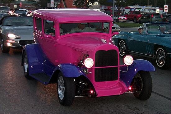 classic Pink Lady street rod