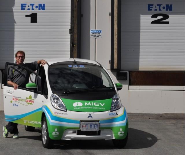 Clean Across Canada Mitsubishi i-MiEV