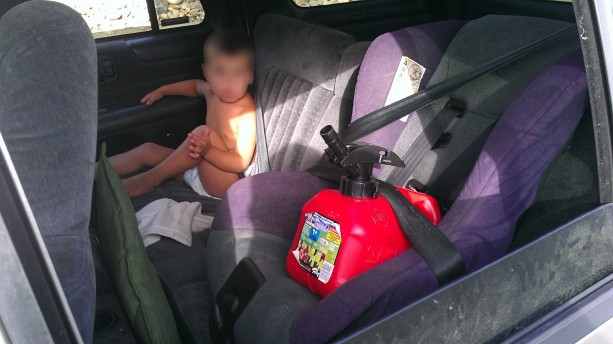 Colorado Department of Transportation: Gas Can In Child Safety Seat