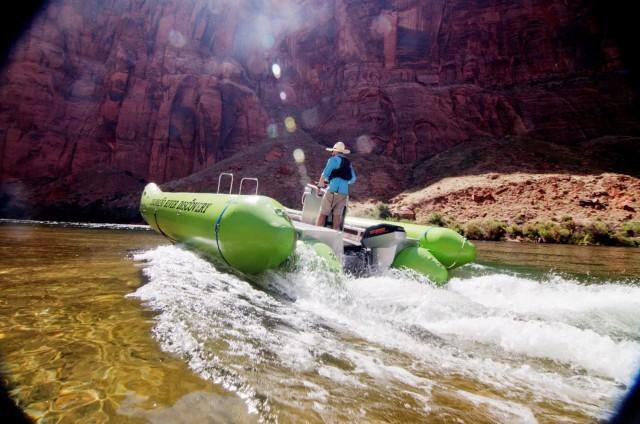 "Colorado River Discovery electric raft ""Helios"""
