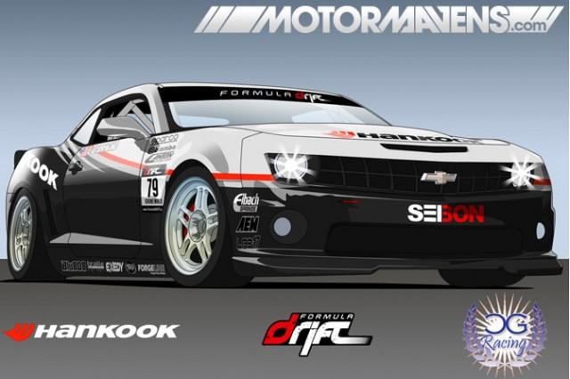 Conrad Grunewald Hankook Formula Drift 2010 Chevrolet Camaro