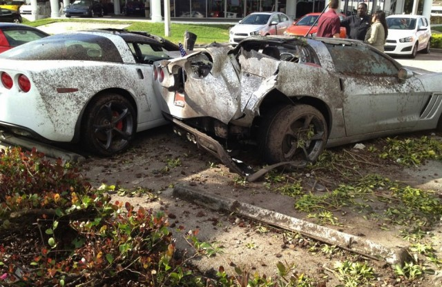 Corvette destroyed by drunk driver.  Image: Chevy Ruben