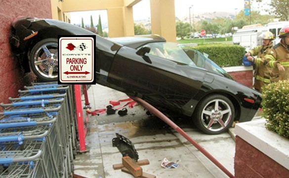 Corvette parking fail