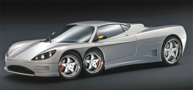 The Covini C6W made its debut at the 2004 Geneva Motor Show and is rumored to see production next year