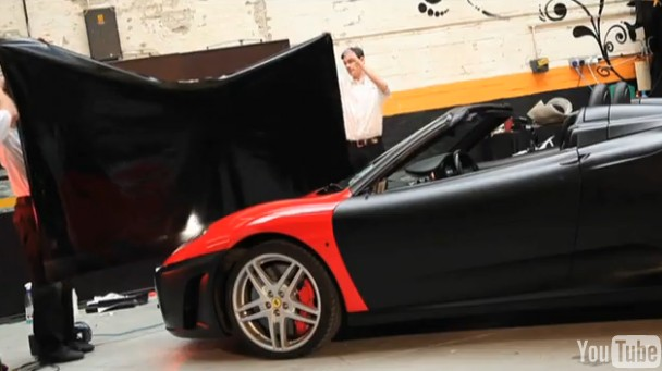 Video: Wrapping A Ferrari F430 Spider (Not For Christmas)