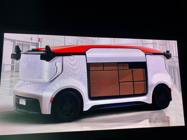 Cruise Origin driverless vehicle - cargo version
