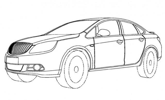 Cruze-based Buick compact sedan patent