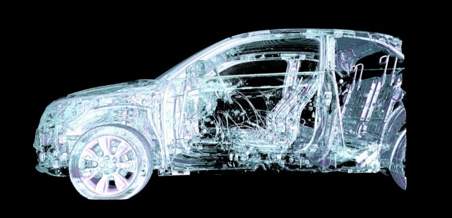 CT scan of a crashed car.