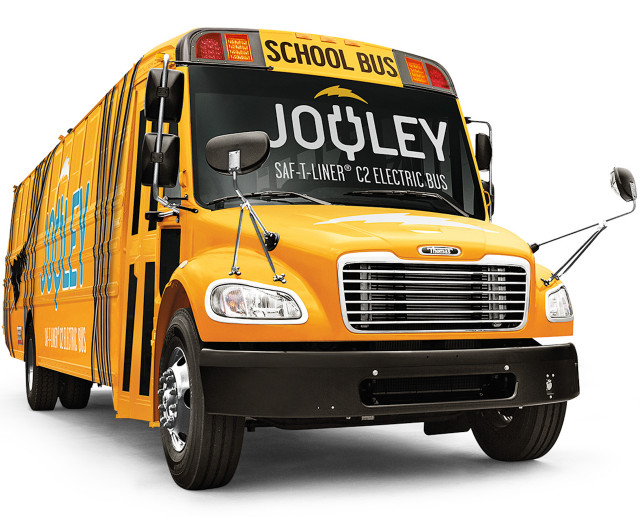 Daimler-Thomas electric Jouley school bus