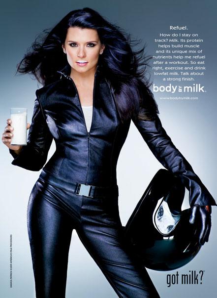 Danic Patrick's Got Milk