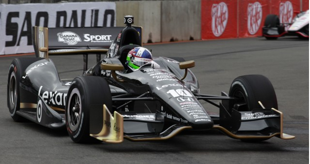 Dario Franchitti is happy with his car - LAT/INDYCAR photo