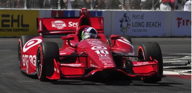Dario Franchitti starts on pole at Long Beach - Anne Proffit phot