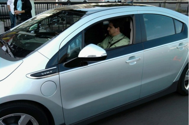 Dave Thomas in the Chevy Volt