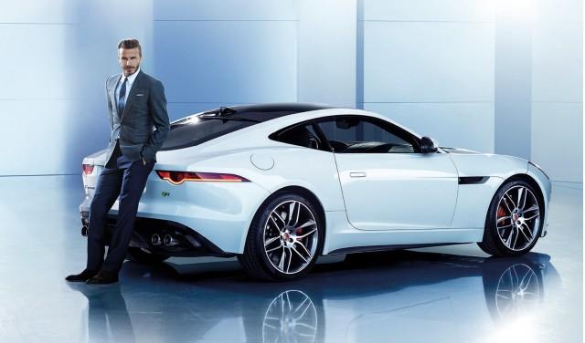David Beckham and the Jaguar F-Type Coupe