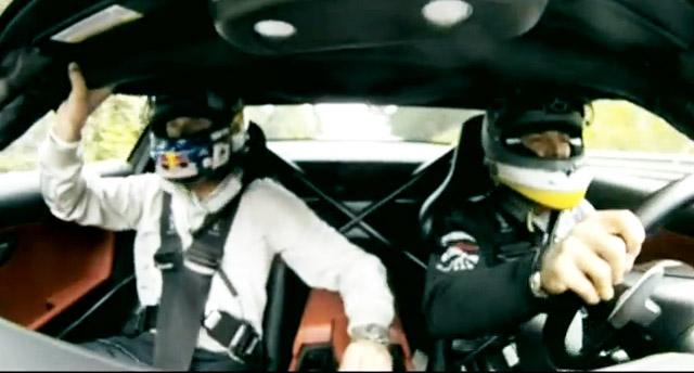 David Coulthard taken around the Nurburgring by Nico Rosberg