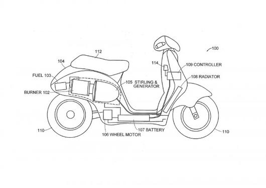 Dean Kamen's concept scooter that runs on anything flammable