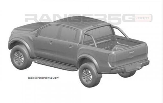 Design patent application shows potential U.S.-spec Ford Ranger Raptor - Image via Ranger5G forum