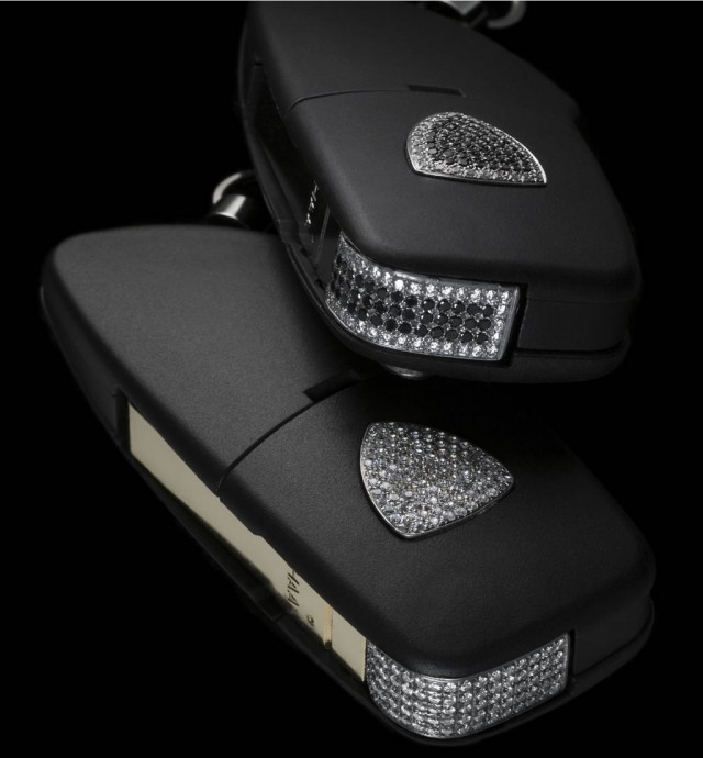 Diamond-studded luxury Lamborghini key fob by Amosu