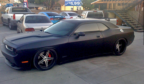Matte Black Widebody Dodge Challenger By Topo