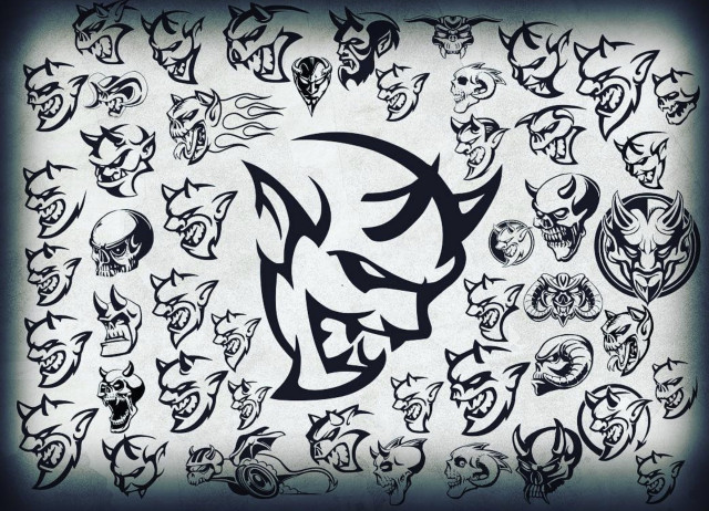 Concept Dodge Challenger Demon sketches