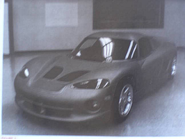 dodge  turned  viper   mid engined car