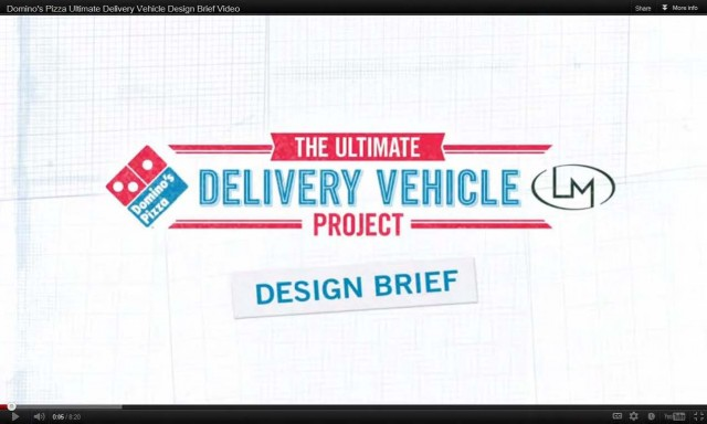 Domino's Ultiimate Delivery Vehicle Project